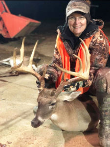 Augusta Smith of Natchez killed this 165-inch 10-point Jan.14, just 16 days after her son Turner Smith had set a club record with a 164 5/8-inch 12 point.