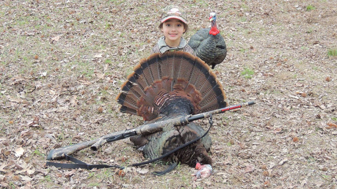 Paizley Kendall, 5, of Grenada, killed her first gobbler on the opening morning of the youth turkey season Friday in Tallahatchie County.